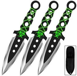 3 Couteaux de lancer 19cm ZOMBIE - Couteau full tang2