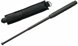 Matraque telescopique noire 52cm - baton impact métal