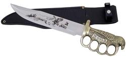 Poignard couteau BOWIE 38cm - Design Aigle en laiton