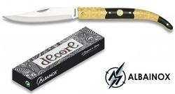Couteau Navaja pliant 18,5cm ALBAINOX - laiton