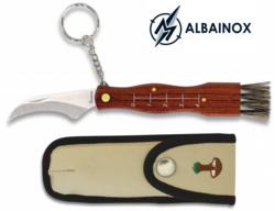 Couteau serpette 16,5cm champignon + étui