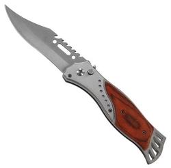 Grand couteau automatique 24,2cm à cran d'arrêt - bois acier