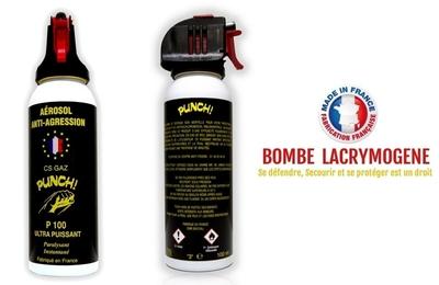 Bombe lacrymogène 100ml GAZ CS - Lacrymo Pistolgel 7m.