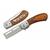 Rasoir barbier 15cm - bois et métal