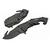 Couteau pliant design 20cm - noir