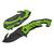Couteau pliant design 20cm - vert