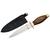 Couteau de botte bois et laiton - dague