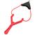 Fronde lance-pierre de précision - rouge.
