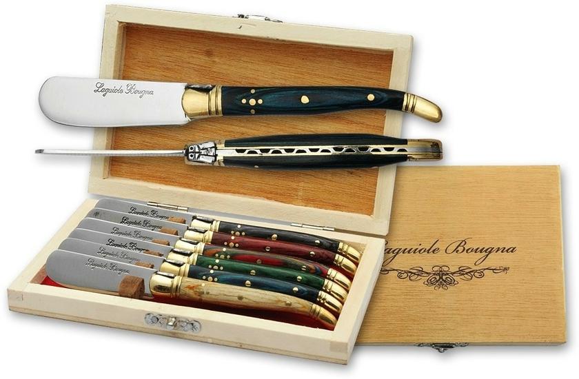 coffret laguiole 6 couteaux beurre 14 5cm couteau compact. Black Bedroom Furniture Sets. Home Design Ideas