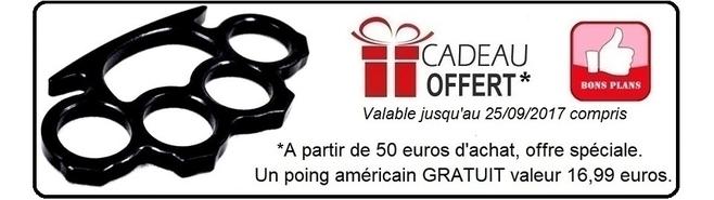 Cadeau gratuit poing américain