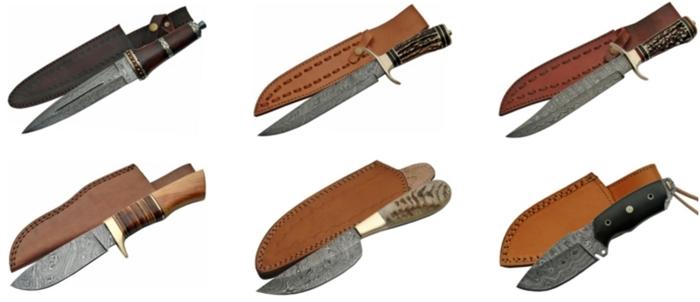 le couteau damas