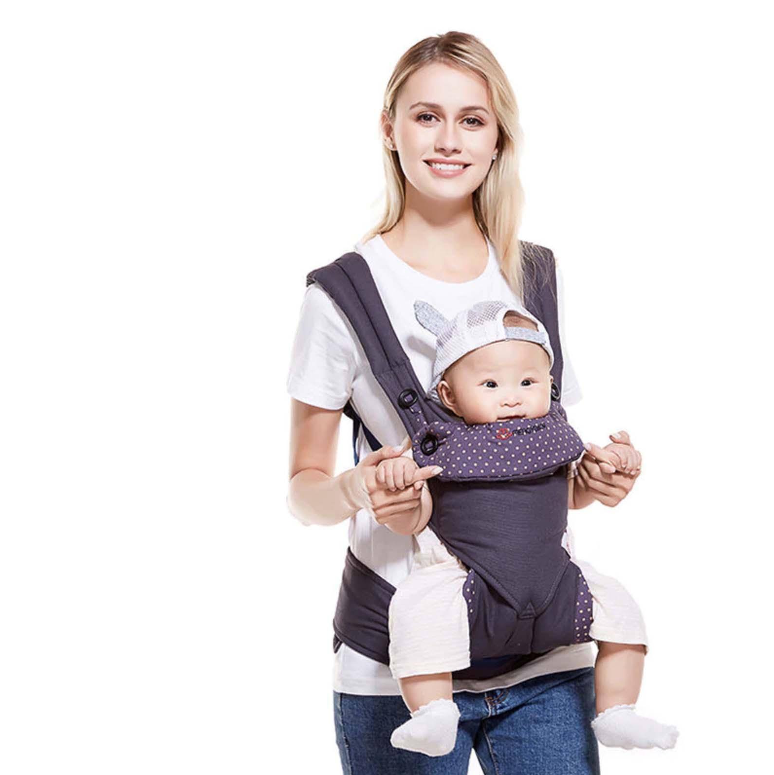 Porte-bébé physiologique multifonctionnel réspirant