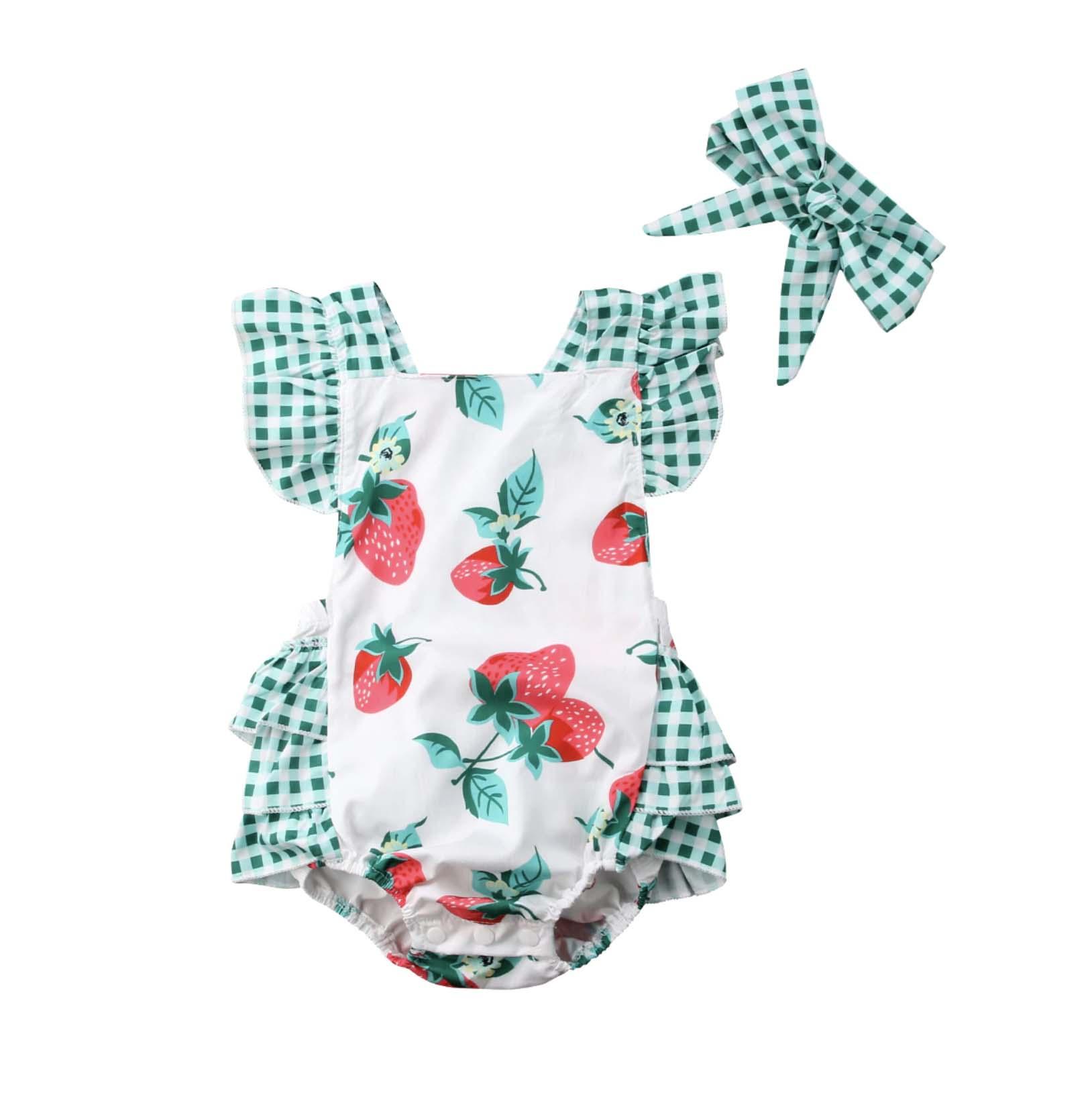 Barboteuse bébé fille robe de fraises