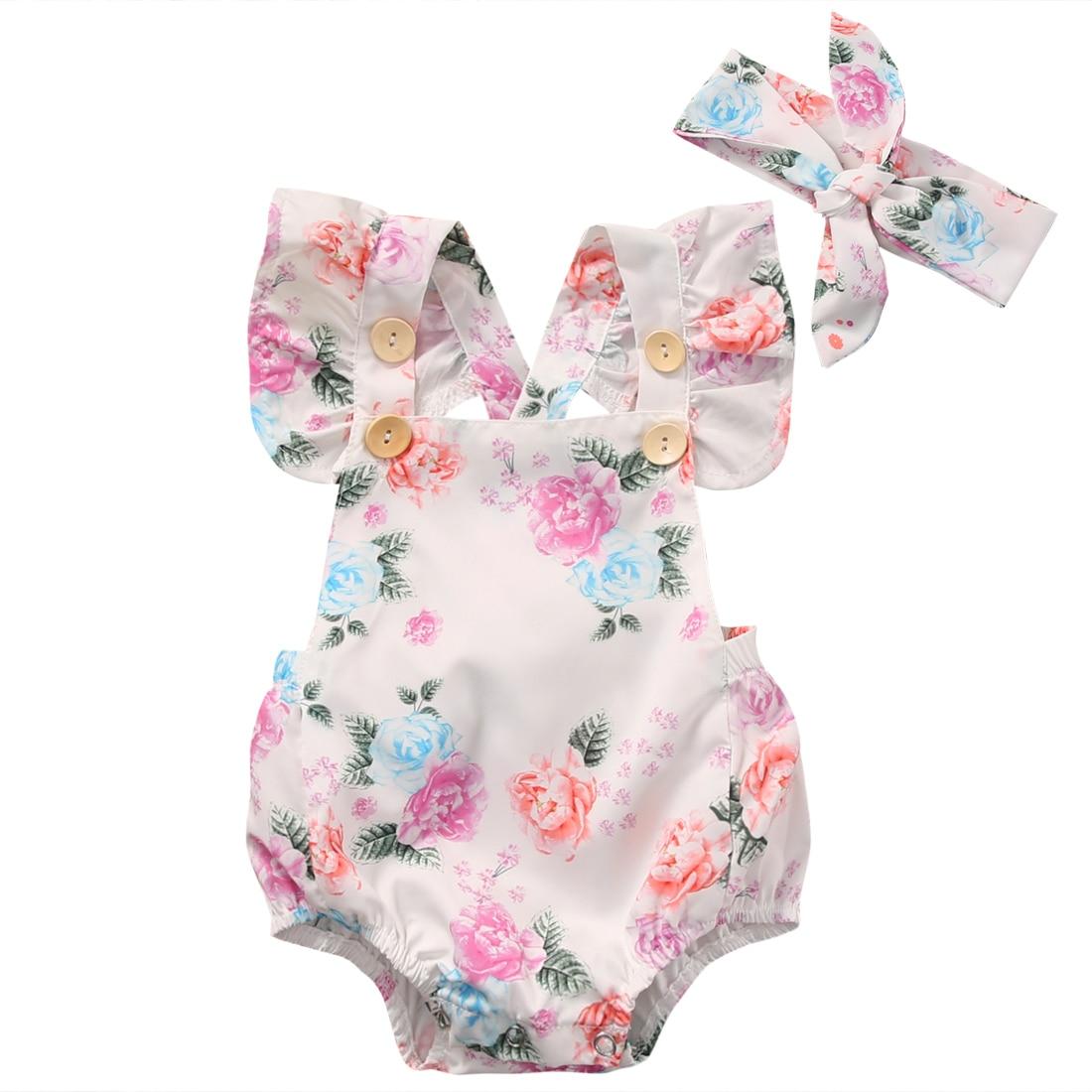 Barboteuse bébé fille robe fleurie