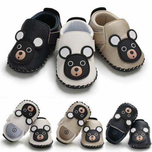 Chaussures ourson premiers pas anti-dérapantes pour filles et garçons