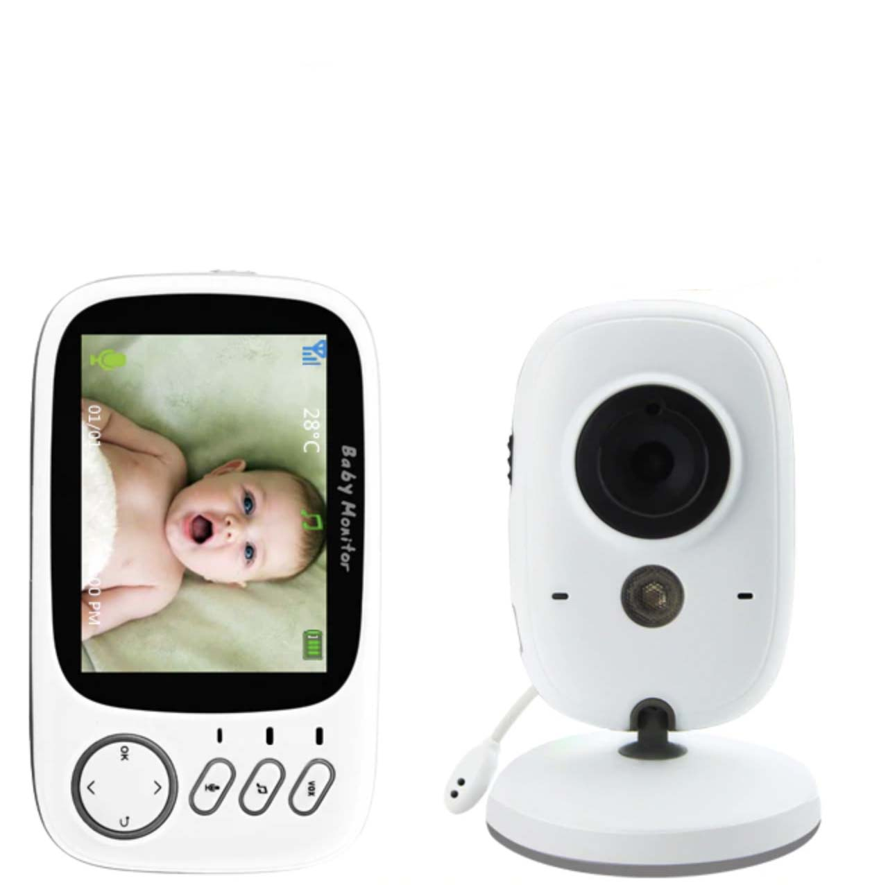 Babyphone vidéo Babywatch+ avec écran de 3,2 pouces et vision nocturne