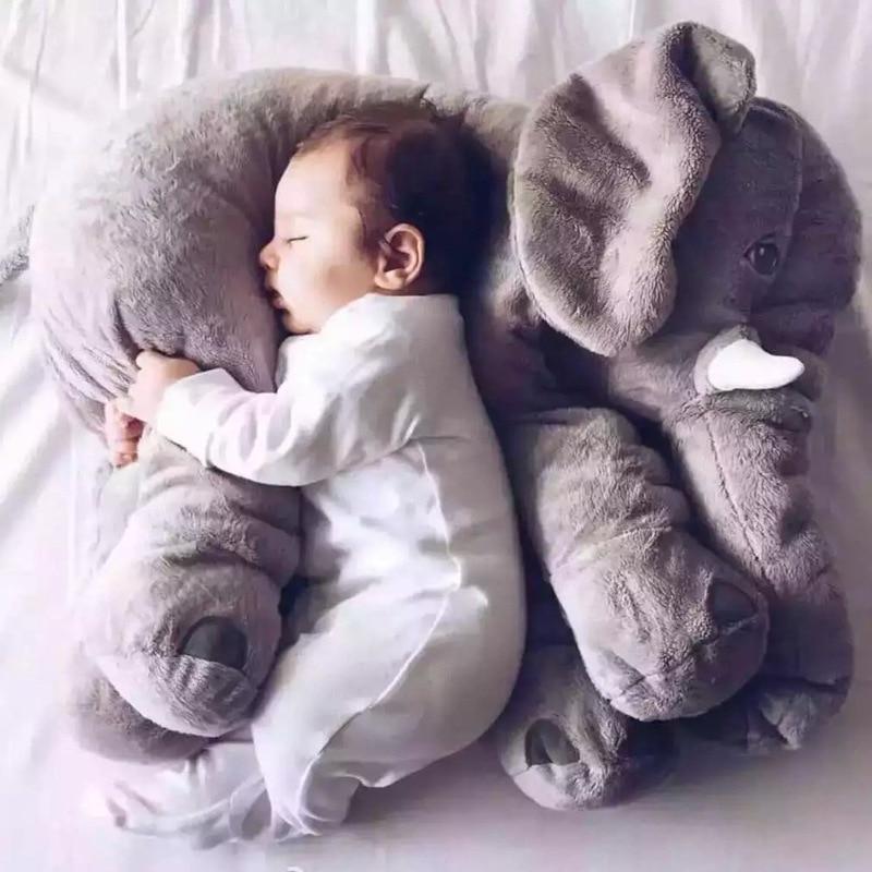 Peluche éléphant, doudou géant pour bébé