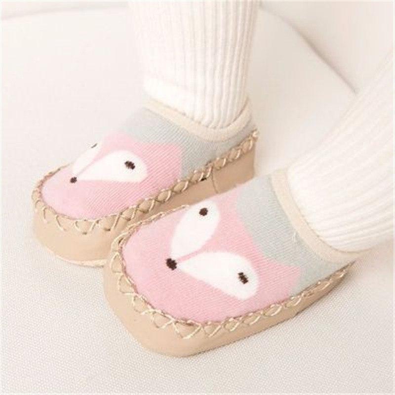 Chaussettes antidérapantes motif souris pour bébé