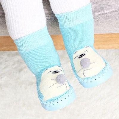 Chaussettes antidérapantes montantes pour bébé avec motif ourson