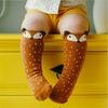 1-paire-Unisexe-Belle-Mignon-de-Bande-Dessin-e-Fox-Enfants-b-b-Chaussettes-Genou-Fille