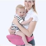 Porte-bébé physiologique rose avec confort dorsal
