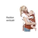 porte-bébé physiologique multifonctionnel position vertical 1