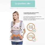 porte-bébé physiologique multifonctionnel respirant 11