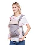 Porte-bébé physiologique multifonctionnel respirant