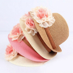 B-b-fille-enfants-enfants-mode-t-fleur-conception-paille-chapeau-de-plage-chapeau-de-soleil-bébé-fille-été-paille