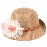 B-b-fille-enfants-enfants-mode-t-fleur-conception-paille-chapeau-de-plage-chapeau-de-soleil-été-paille-fille