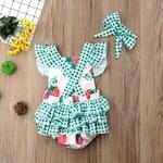 nouveau-bb-fille-fraise-vêtements-sans-manches-Tutu-volants-barboteuse-été-printemps-bébé