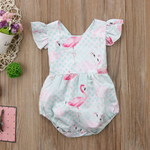 New-Baby-Girls-Infant-Flamingo-Romper