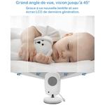 babyphone moniteur bébé grand angle