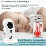 babyphone vidéo baby monitor controle de la temperature