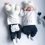 Nouveau-n-b-b-gar-ons-v-tements-ours-chaud-hiver-hauts-T-shirt-pantalon-tenues