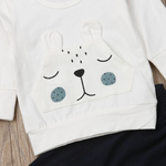 Nouveau-n-b-b-gar-ons-v-tements-ours-chaud-hiver-hauts-T-shirt-pantalon-tenues-ensemble-nounours