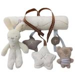 Jouet à suspendre Hugo le lapin et Nono le petit ours