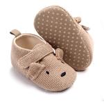 chaussures-bébé-antidérapantes-souples-marron-chien