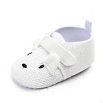 chaussures-bébé-antidérapante-souples-blanc-chien