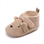 chaussures-bébé-antidérapante-souples-marron-chien