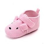 chaussures-bébé-antidérapante-souples-rose-chien