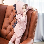 Emmababy-B-b-Gar-on-Fille-3D-Dinosaure-Costume-Solide-rose-gris-Barboteuses-chaud-printemps-automne