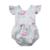 barboteuse flamant rose sans manches bébé