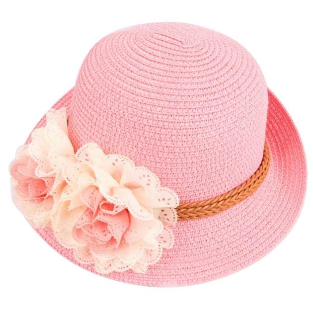 Chapeau de paille pour bébé fille Vêtement bébéChapeau et