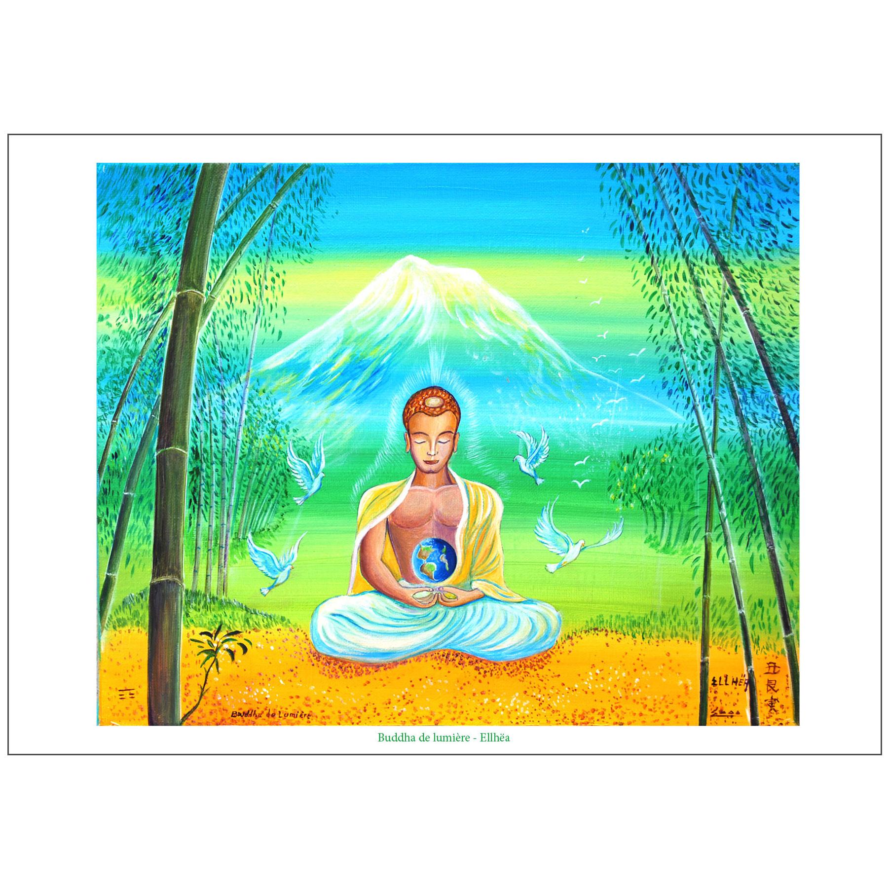 Poster méditation Bouddha de Lumière
