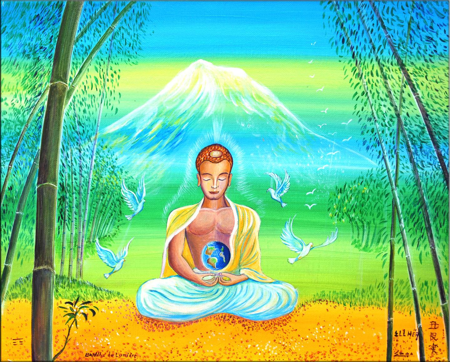 Reproduction sur toile Bouddha de Lumière
