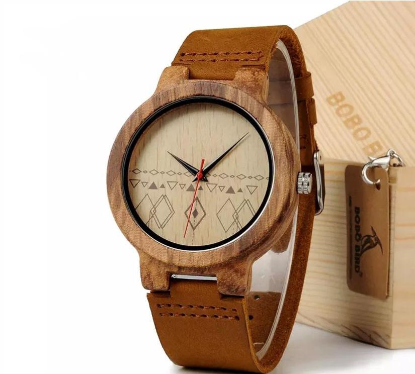Montre homme en bois et bambou