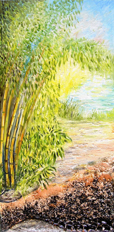 Toile Bambous et lumière