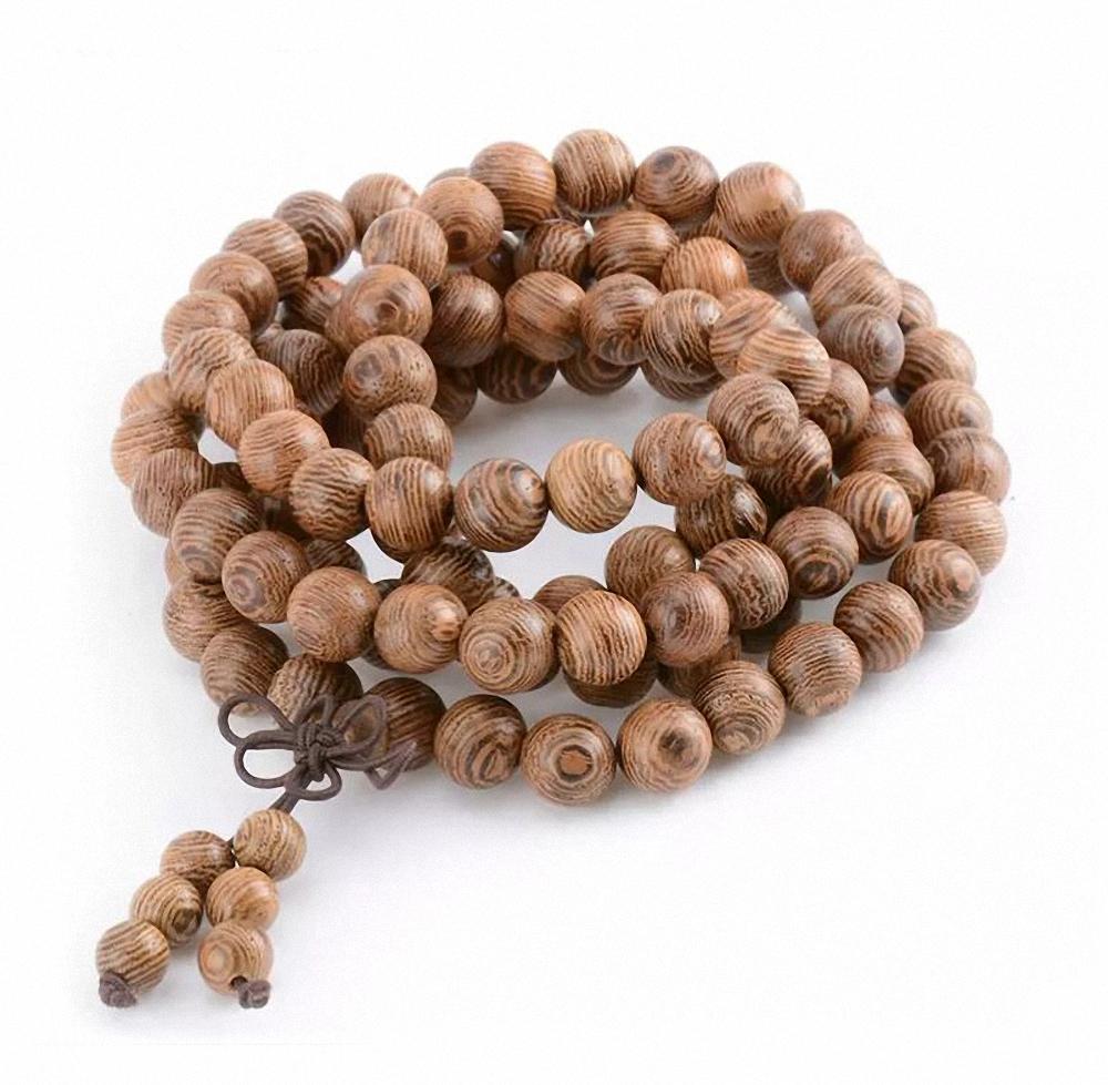 Mala tibétain 108 perles bois