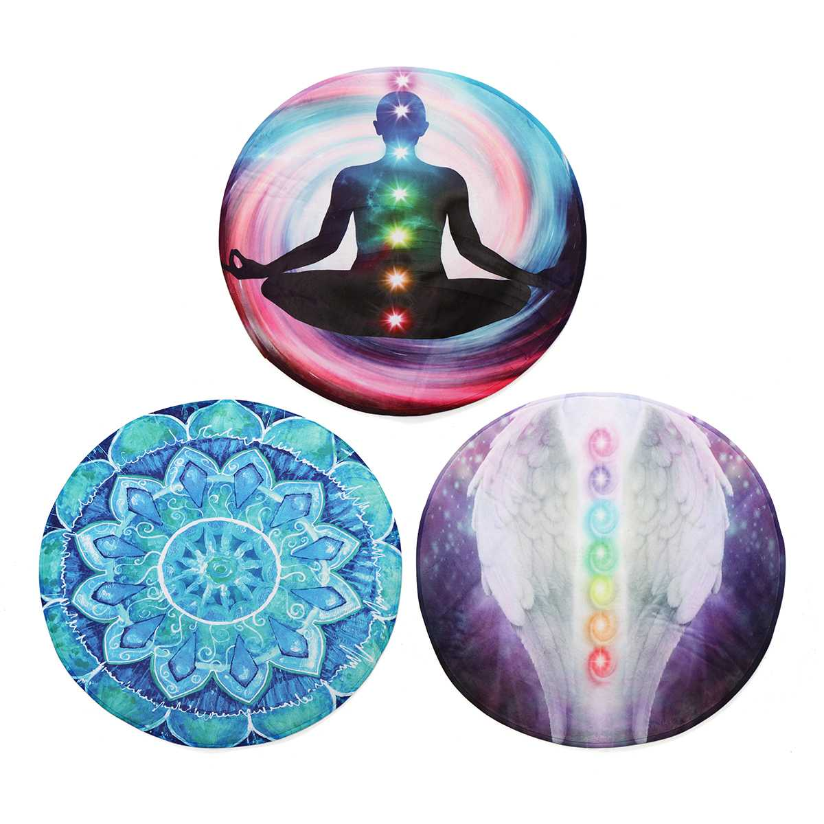 Tapis de Yoga rond méditation yoga